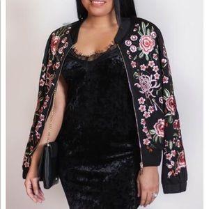 Jackets & Blazers - Flower Bomb Embroidery Jacket